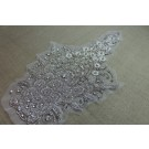 Large Beaded Diamante Motif in Silver