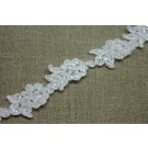 Flower Chain Beaded and Corded Lace Trim
