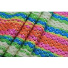 Rainbow Basket Weave Fabric