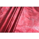 Metallic Foiled Lycra - Red