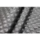 Quilted Double Stitched Leatherette - Black