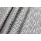 Striped Silk Taffeta - Grey and Ivory