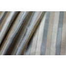 Striped Silk Dupion - Beige and Black