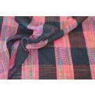 Chunky Check Silk Matka - Black/Multicolour