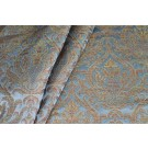 Heavy Banaras Brocade - Dusty Blue/Multi and Gold