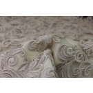 Corded Embroidered Tulle - Oyster - Double Scallop