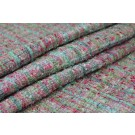 Chunky Multi Colour Silk Chenille - Green/Pink
