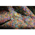 Overlapping Micro Sequin On Silk Chiffon - Multi Iridescent Pastel