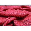 Micro Sequin On Silk Chiffon - Red