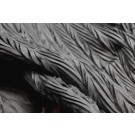 Pleated Silk Organza - Black