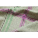 Wool Check - Sand Pink and Green
