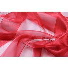 Silk Organza - Metallic Red