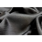 Diagonal Texture Weave Silk Brocade - Black