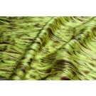 Silk Satin - Lime and Chartreuse Feather Print