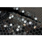 Sequin On Nylon Chiffon - Black