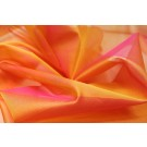 Silk Organza - Yellow shot Pink