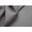 Wool Suiting - Brown with Grey Pinstripe