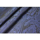 Banaras Brocade - Navy, Royal Blue & Black