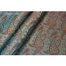 Banaras Brocade - Light Green & Orange