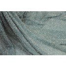 Beaded Silk Chiffon - Sea Green with Clear Beads