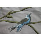 Bird Embroidery - Oyster