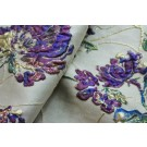 Gold and Vivid Purples and Greens Floral Brocade