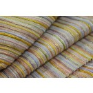 Chunky Stripe Silk Lurex Matka - Yellow/Lilac