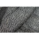 Glittery Check Silk Lurex Matka - Black/Natural