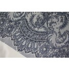 Scroll Border Chantilly - Navy - Single Scallop