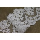 Corded Lace Trim - White