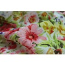 Floral Print Cotton - Purple, Pink and Green