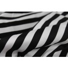 Striped Cotton Sateen - Black and White