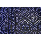 Embossed Viscose Velvet - Royal Blue on Yellow and Gold Foil