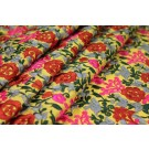 Ethnic Style Floral Embroidery - Yellow/Multi