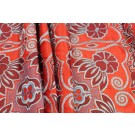 Ethnic Style Floral Embroidery - Orange