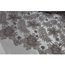 Guipure Lace - Delicate Floral - Mushroom