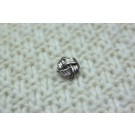Metal Knot Button - Medium Silver