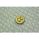 Metal Rope Design Button in Gold.
