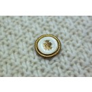 Vintage Military Button - Ivory