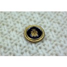 Vintage Military Button - Black