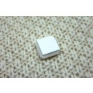 Ivory Resin Button- Square