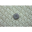 Iridescent Grey Square Button - Medium