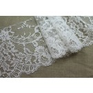 Scroll Border Lace Trim - Ivory