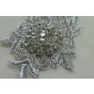 Small Beaded Diamante Motif in Silver