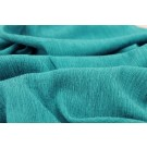 Pleated Silk and Cotton - Turquoise