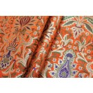 Heavy Banaras Brocade - Orange / Multi