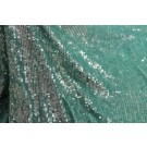 Overlapping Micro Sequin On Silk Chiffon - Peppermint
