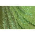 Overlapping Micro Sequin On Silk Chiffon - Iridescent Lime