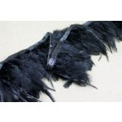 Feather Trim - Black