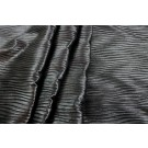 Pleated Leatherette - Charcoal